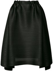 Issey Miyake Pleats Please By Pleated Texture Asymmetric Skirt Women Polyester 3 Black