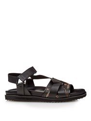 Alexander Mcqueen Camouflage Print Leather Sandals