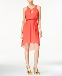 Thalia Sodi Chain Trim High Low Dress Only At Macy's Hibiscus Bloom