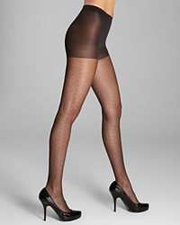 Hue Tulle Dot Sheer Tights Black