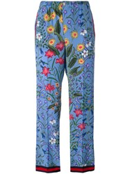 Gucci New Flora Pajama Trousers Blue