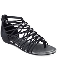 G By Guess Jonsie Strappy Flat Sandals Women's Shoes Black
