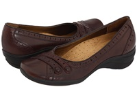 Hush Puppies Burlesque Dark Brown Leather Women's Slip On Shoes