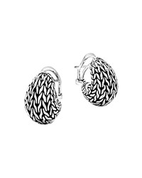 John Hardy Sterling Silver Classic Chain Graduated Buddha Belly Earrings