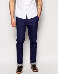 United Colors Of Benetton Check Trousers In Regular Fit Navy901