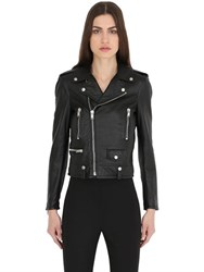 Saint Laurent Washed Nappa Leather Biker Jacket
