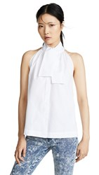 Jourden Shirt Tank With Bow Tie White