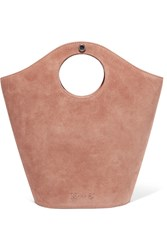 Elizabeth And James Market Small Leather Suede Tote Tan