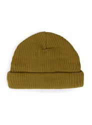 Topman Metallic Gold Mini Fit Beanie Hat