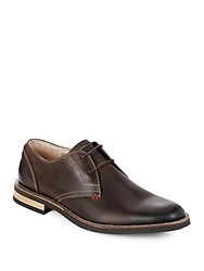 Penguin Wade Leather Derby Shoes Dark Brown