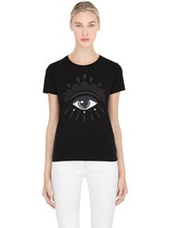 Kenzo Eye Printed Cotton Jersey T Shirt