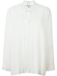 Lala Berlin Lace Insert Blouse White