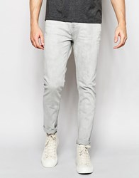 Weekday Friday Skinny Jeans In Stretch Gray Beat Light Wash Gray Beat