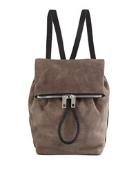 Rag And Bone Loner Suede Two Tone Backpack Gray