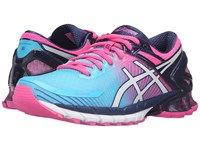 Asics Gel Kinsei 6 Aquarium White Hot Pink Women's Running Shoes Blue