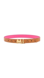 Mcm Visetos Reversible M Belt Pink