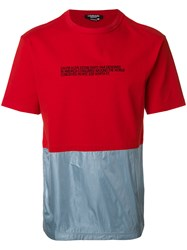 Calvin Klein 205W39nyc Contrasting T Shirt Red