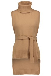 Rosetta Getty Wool And Cashmere Blend Turtleneck Sweater Tan
