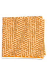 Southern Tide Whitefield Floral Cotton And Silk Pocket Square Orange