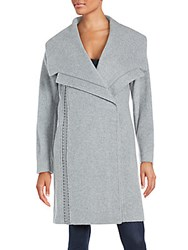 Badgley Mischka Wool Blend Coat Grey