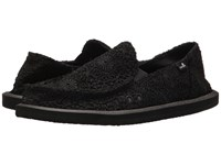 Sanuk Donna Crochet Black Black Women's Slip On Shoes