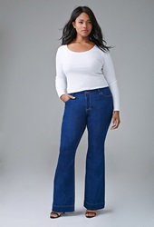 Forever 21 Classic Flared Jeans Indigo