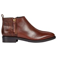 Geox 'S Donna Brogue Ankle Boots Brown Leather