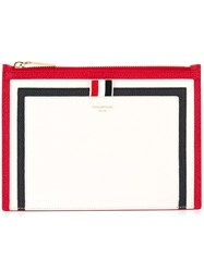 Thom Browne Panelled Pouch White