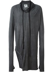 Lost And Found Rooms Asymmetric Long Sleeve Tunic Grey