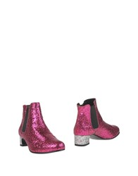 Never.Ever Never Ever Ankle Boots Fuchsia