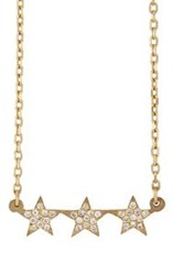 Bianca Pratt Women's Triple Star Pendant Necklace Colorless