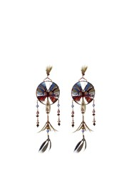 Valentino Dream Catcher Feather Earrings