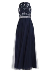 Lace And Beads Margheritta Occasion Wear Navy Dark Blue