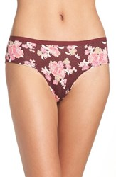 Chelsea 28 Women's Chelsea28 Hipster Panty Burgundy Royale Exotic Floral