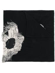 Christian Wijnants Floral Print Scarf Black