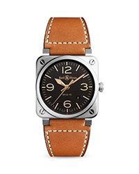 Bell And Ross Br 03 92 Golden Heritage Watch 42Mm Black Tan
