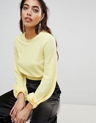 Ivyrevel Cropped Top With Tie Back Yellow