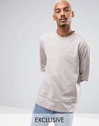 Puma Oversized Double Hemmed T Shirt In Beige Exclusive To Asos Beige