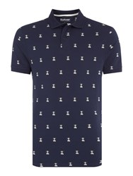 Barbour Men's Vintage Beacon Short Sleeve Polo Navy