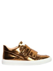Maison Martin Margiela Double Strap Leather Mid Top Sneakers