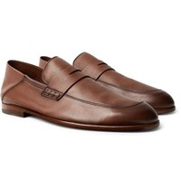 Harry's Of London Edward Collapsible Heel Leather Penny Loafers Brown
