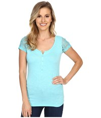 Ariat Keller Top Miami Aqua Women's Short Sleeve Pullover Blue