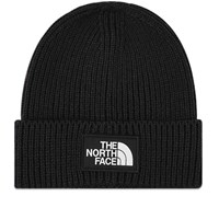 The North Face Logo Box Cuffed Beanie Black