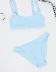 Weekday Low Rise Bikini Brief In Ice Blue