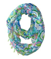 Lilly Pulitzer Riley Infinity Loop Rayon Multi Scarves