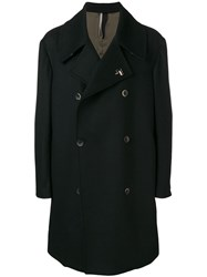 Low Brand Classic Double Breasted Coat Black
