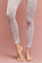 Anthropologie Marled Footless Tights Grey