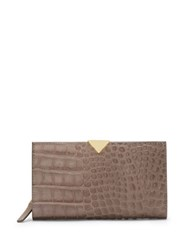 Vince Camuto Zinia Multi Compartment Leather Wallet Grey