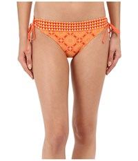 Prana Saba Bottom Neon Orange Sundial Women's Swimwear Yellow