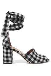 Sam Edelman Odele Gingham Canvas Sandals Black